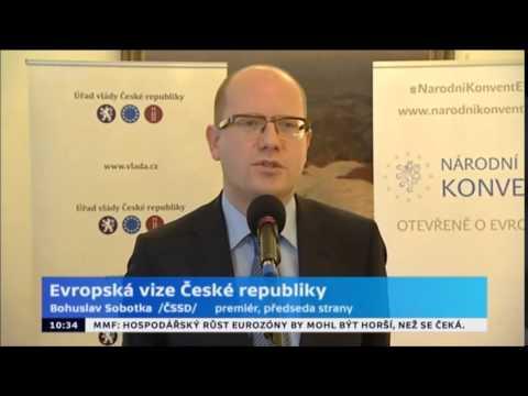 """B. Sobotka zahájil Konvent EU """"Evropské vize ČR"""""""
