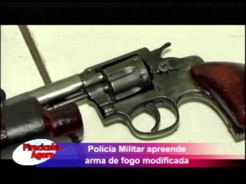 Policia Militar apreende arma de fogo modificada