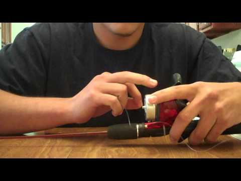 how to re spool a push button fishing reel