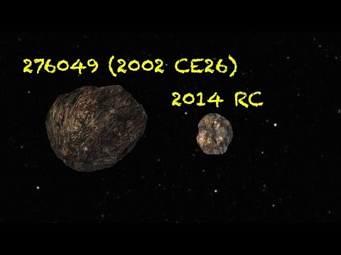 Asteroids close encounter with Earth - 2014 RC and 276049 (2002 CE26)