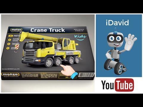 Crane Truck for Kids in Action -  Monzo Gameplay App - Truck Model Building