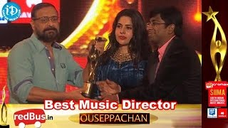 SIIMA 2014 || Malayalam Best Music Director Ouseppachan for Nadan Movie