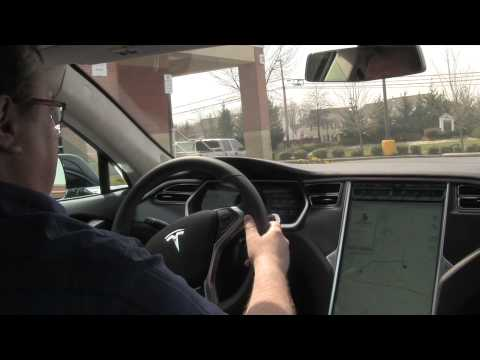 Bryan's Tesla Model S - Door Handles & Navigation Demo