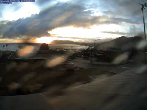 March 1rst 2010 Shell Beach Webcam Timelapse