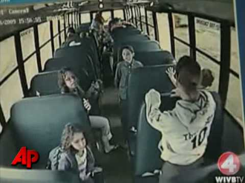 Raw Video: Drunk Bus Driver Gives Students Wild Ride