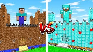 ❤️ Minecraft NOOB vs PRO - SECRET CASTLE BASE CHALLENGE IN MINECRAFT / Animation