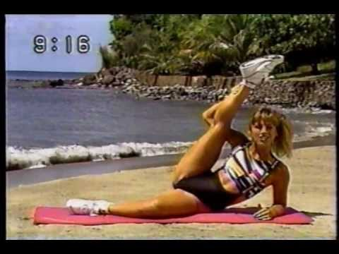 Denise Austin Colorful Top & Black Part2/2