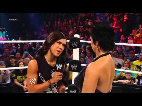 John Cena and AJ Lee kiss to the dismay of Vickie Guerrero: Raw, Nov. 19, 2012
