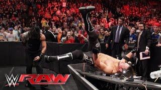 Roman Reigns & The Usos vs. AJ Styles, Luke Gallows & Karl Anderson: Raw, May 2, 2016
