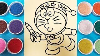 Tô màu tranh cát Đôrêmon làm ảo thuật - Đồ chơi trẻ em Chim Xinh - Colors Sand Painting Toys