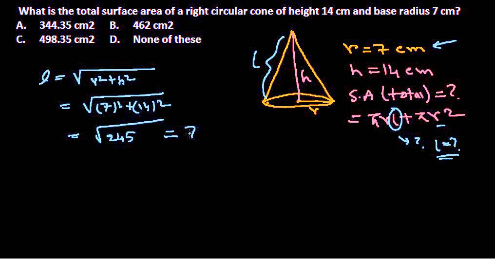 Numerical reasoning : Volume and surface area problem 7 for NET ...