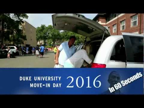 Freshman Move-In Day -- in 60 Seconds