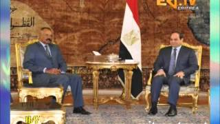 Eritrean PIA and Abdelfatah Al Sisi hold talks focusing on fostering bilateral relations