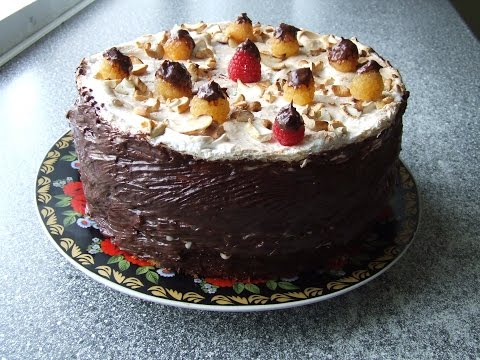 Бисквит Безе на вафельном корже Торт ЛЕБЕДИНОЕ ОЗЕРО.