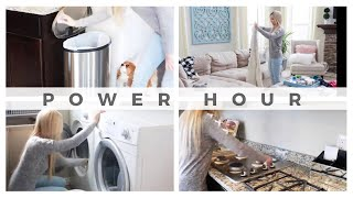 POWER HOUR CLEAN WITH ME  | CLEANING MOTIVATION | COLLABORATION WITH JILLIAN STARLING