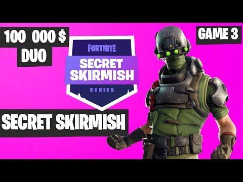 Fortnite Secret Skirmish DUO Game 3 Highlights - Fortnite Tournament 2019
