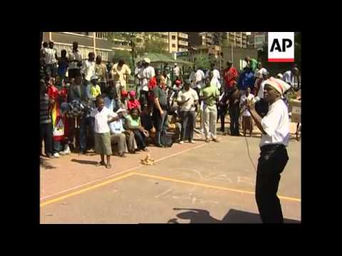 Zimbabwe's Opposition MDC supporters hold rally