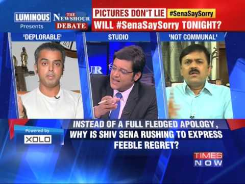The Newshour Debate: Will Shiv Sena Say Sorry - Part 2 (23rd July 2014)