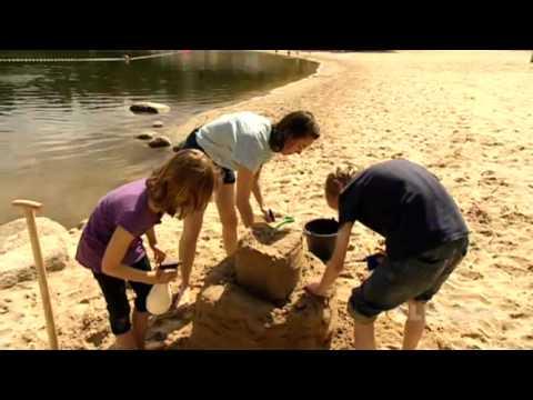 Wie baut man eine tolle Sandburg?