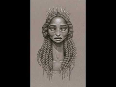 Afro Woman Drawing Black African Art Woman