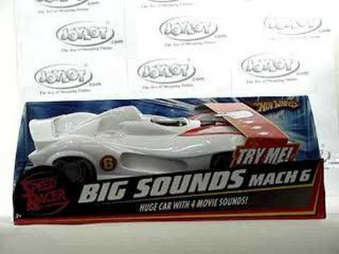 hot wheels speed racer big sounds mach 6 car toy 100446
