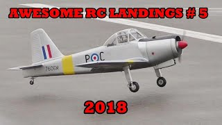 """""""AWESOME RC LANDINGS"""" - WW2 BOMBERS & TRANSPORT ETC # 5 - 2018"""