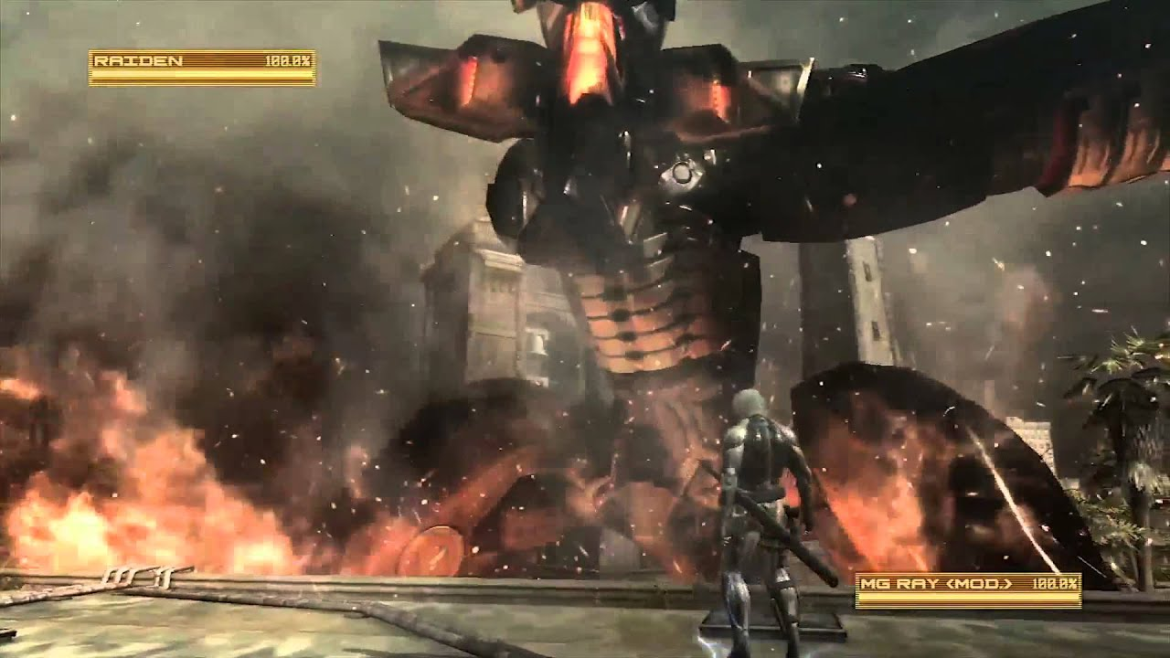 metal gear rising revengeance raiden vs ray gameplay