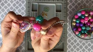 How To Make a Rear View Mirror Dangle Using 20mm Chunky Bubblegum Beads