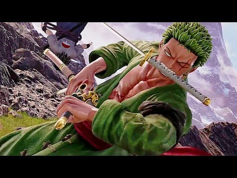 JUMP FORCE - Gameplay Sasuke Vs. Zoro Fight (E3 2018)
