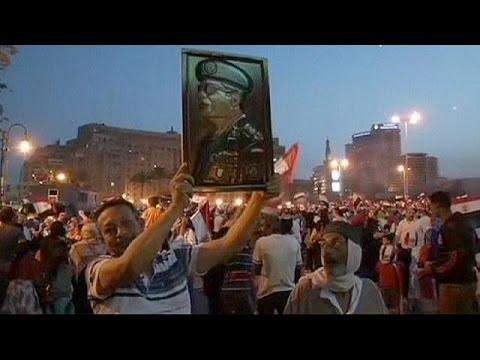 Egypt Celebrations- El-Sissi supporters celebrate his landslide election victory - no comment