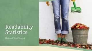 Readability Statistics - Know More About Your Writing Style | Microsoft Word 2016 Tutorial