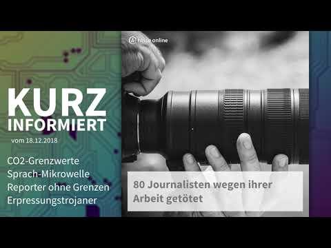 CO2-Grenzen, Sprach-Mikrowelle,  Reporter, Erpressungstrojaner | Kurz informiert vom 18.12.2018