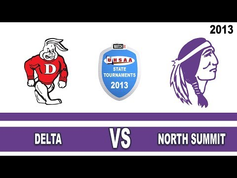 Court#1 Delta vs North Summit High School 2013 State 2A Volleyball Tournament