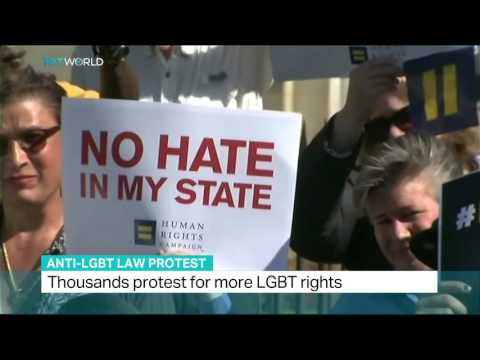 Thousands protest for more LGBT rights in North Carolina