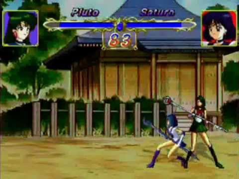 Sailor Pluto vrs Sailor Saturn Playstation