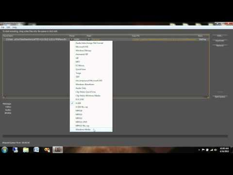 Convert FLV to WMV using Adobe Media Encoder