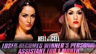 WWE Hell In A Cell 2014 Brie Bella vs Nikki Bella Match Card ᴴᴰ