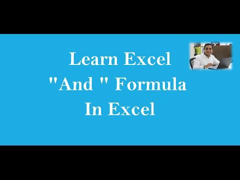 MS Excel : AND Formula  (Hindi)