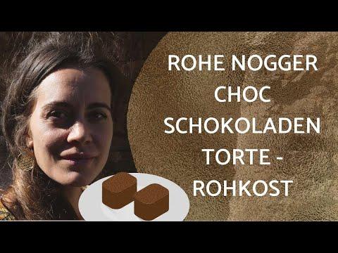 Rohe NOGGER CHOC Schokoladen Torte -ROHKOST - Vegan- Nussfrei - Glutenfrei - Laktosefrei