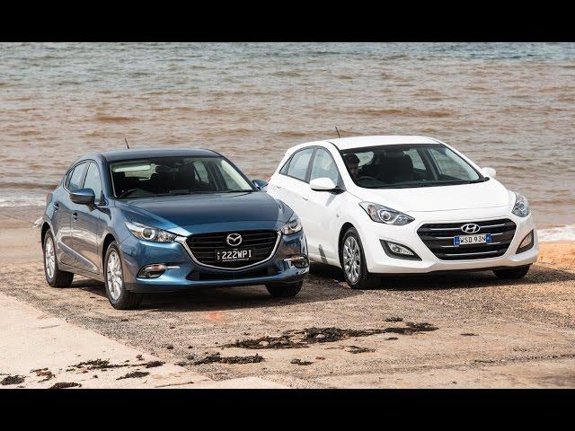 2017 Mazda3 vs Hyundai i30: 0-100km/h & engine sound ...