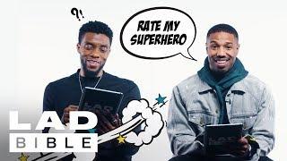 Black Panther's Chadwick Boseman and Michael B. Jordan Rate Superhero Costumes