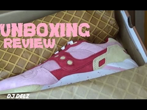 Saucony Originals G9 Strawberry Vanilla Scoop Pack Sneaker  Unboxing Real Review With @DjDelz