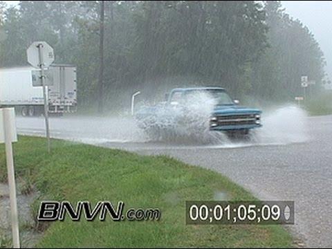7/9/2005 Hurricane Dennis Video, Stock Footage. Part 1 - Pensacola FL