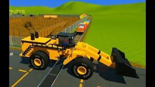 Lego Bulldozer, Trucks, Hot Rods & Cars vs. Lego Train - Brick Rigs - Realistic Crashes