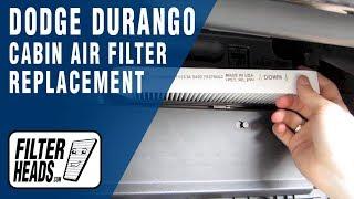 Cabin air filter replacement- Dodge Durango