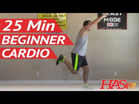 25 Min Beginner Cardio Workout - Hasfit Low Impact Cardio Exercises - Easy Aerobic Workouts video