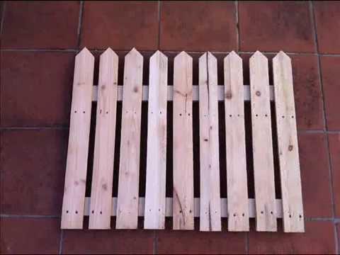 come costruire un cancello in legno youtube
