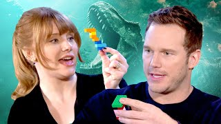 Chris Pratt and Bryce Dallas Howard Take Ultimate LEGO Jurassic World Challenge