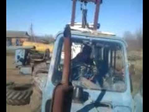 Снятие кабины с трактора т 150