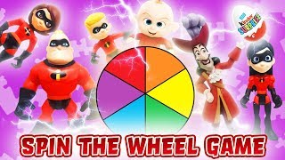 Incredibles 2 Spin the Wheel Game Featuring Elastigirl, Violet, and Captain Hook!